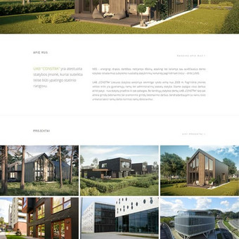 Statybos įmonės Constra internetinė svetainė www.constra.lt