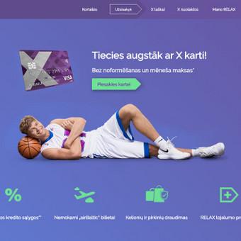 Xkortele.lt svetainės, pagrindinio puslapio reklaminės nuotraukos dizainas.