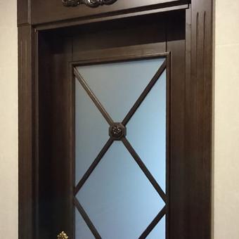 Vidaus durys iš medžio masyvo / Aidas Mazūra / Darbų pavyzdys ID 337787