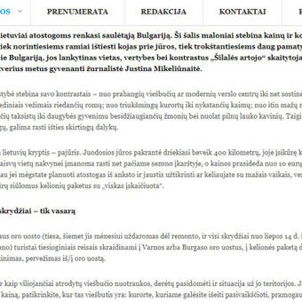 Laisvai samdoma žurnalistė Bulgarijoje / Justina Mikeliūnaitė / Darbų pavyzdys ID 339193