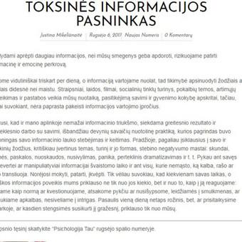 Laisvai samdoma žurnalistė Bulgarijoje / Justina Mikeliūnaitė / Darbų pavyzdys ID 339199