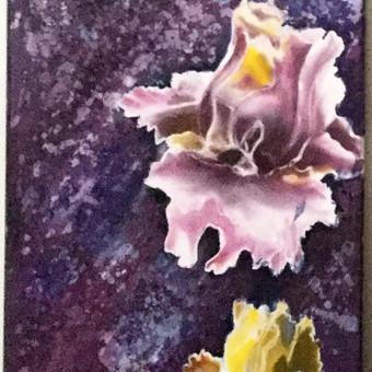 """""""Naktis"""", 40 x 50, batika, šilkas. Parduodamas"""