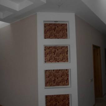 gkp sukimas sienu, lubu dazymas ,gaboleno klijavimas paneriai