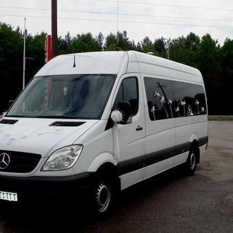 Keleivinių baltų Mercedes Sprinter mikroautobusų nuoma / Algimantas / Darbų pavyzdys ID 374069