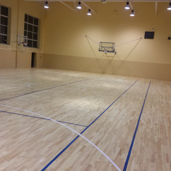 Grindų restauravimas Žygimanto Augusto mokyklos sporto salėje