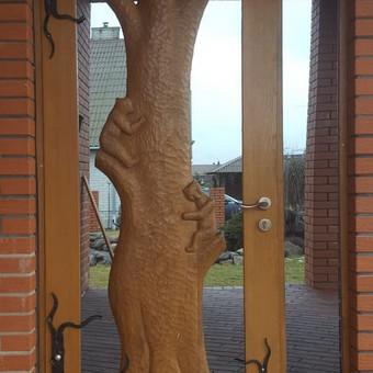 Medžio masyvo durys, langai, laiptų pakopos, palangės, deko / Arūnas / Darbų pavyzdys ID 375859