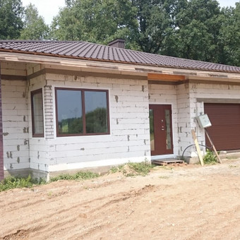 Plastiko, Aliuminio, Medžio profilio langai,durys,pertvaros / UAB / Darbų pavyzdys ID 376449