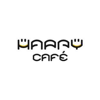 Happy cafe  - kavinės kokteilinės logotipas.  |   Logotipų kūrimas - www.glogo.eu - logo creation.