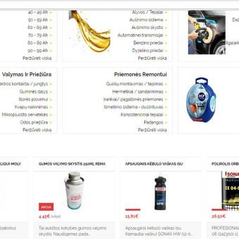 Elektroniniu Internetiniu parduotuviu kūrimas / MB AUTOBAMBA / Darbų pavyzdys ID 380375