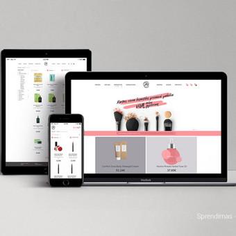 Nupieštas ir suprogramuotas unikalus dizainas. Naudojama Prestashop turinio valdymo sistema.