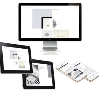 Užduotis – sukurti reprezentacinę svetainę, skirtą pateikti informaciją apie atliktus projektus. Sprendimas: svetainė sukurta naudojant Bones Framework pagal EIGHTYDESIGN sukurtą svetainės dizainą, įd